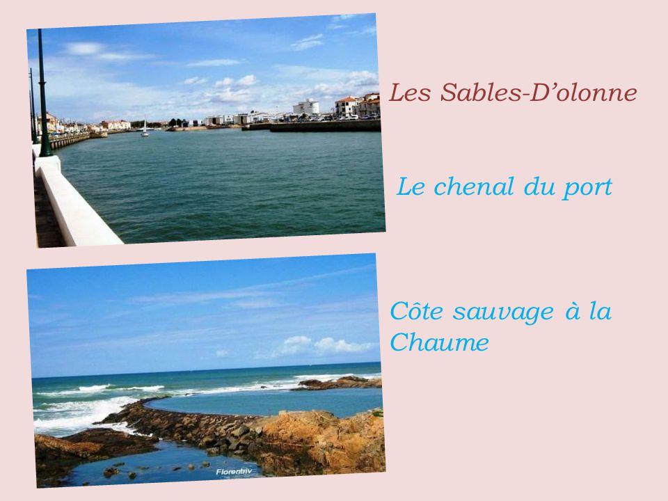 Les Sables-D'olonne . . .Le chenal du port . . . Côte sauvage à la Chaume
