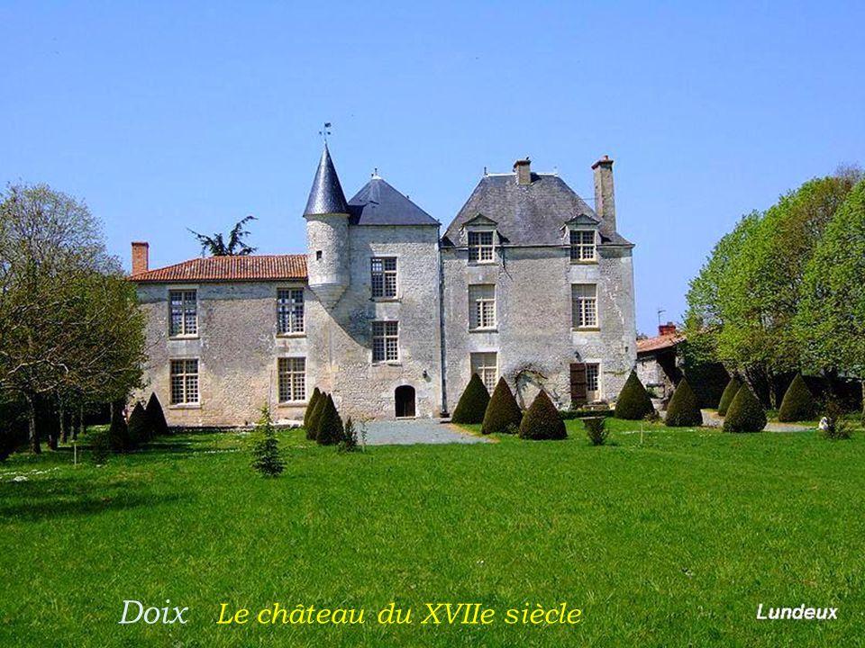 Doix Le château du XVIIe siècle