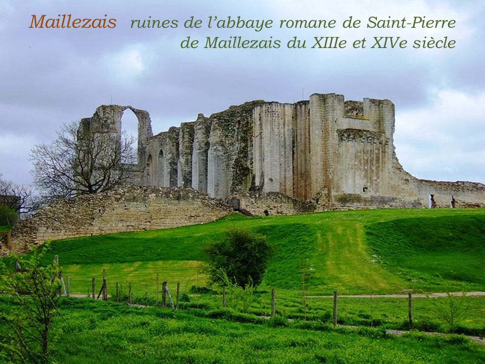 Maillezais ruines de l'abbaye romane de Saint-Pierre