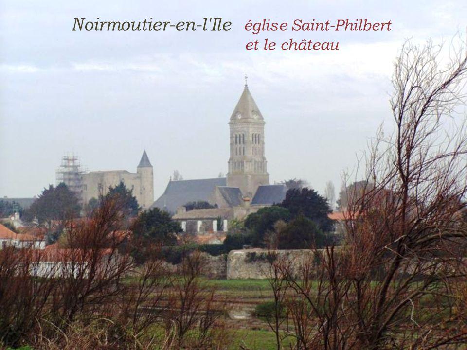 Noirmoutier-en-l Ile église Saint-Philbert . et le château
