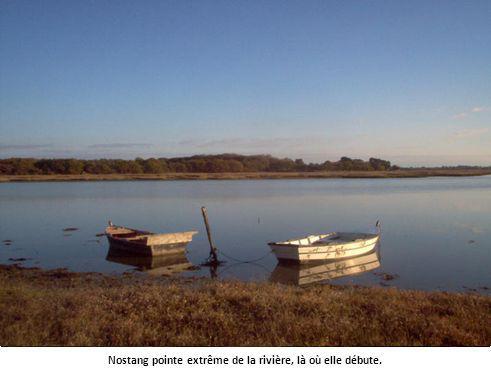 Nostang pointe extrême de la rivière, là où elle débute.