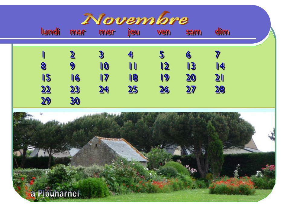 Novembre lundi mar mer jeu ven sam dim 1 2 3 4 5 6 7