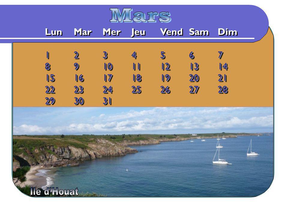 Mars Lun Mar Mer Jeu Vend Sam Dim 1 2 3 4 5 6 7 8 9 10 11 12 13 14