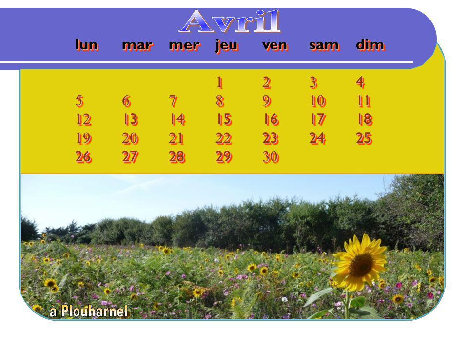 Avril lun mar mer jeu ven sam dim 1 2 3 4 5 6 7 8 9 10 11