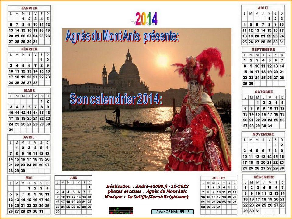 Agnès du Mont Anis présente: Son calendrier 2014:
