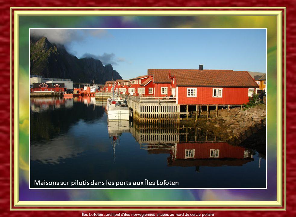 Maisons sur pilotis dans les ports aux Îles Lofoten