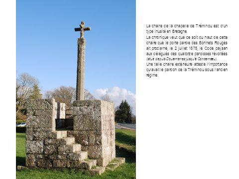 La chaire de la chapelle de Tréminou est d'un type inusité en Bretagne.