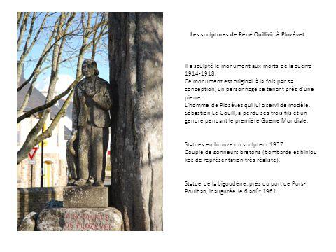 Les sculptures de René Quillivic à Plozévet.
