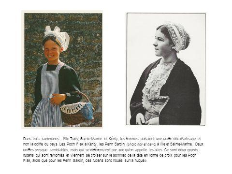 Dans trois communes : l'Ile Tudy, Sainte-Marine et Kérity, les femmes portaient une coiffe dite d'artisane et non la coiffe du pays.