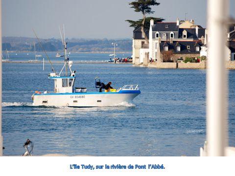 L'île Tudy, sur la rivière de Pont l'Abbé.