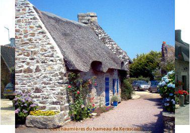 Les chaumières du hameau de Kerascoët