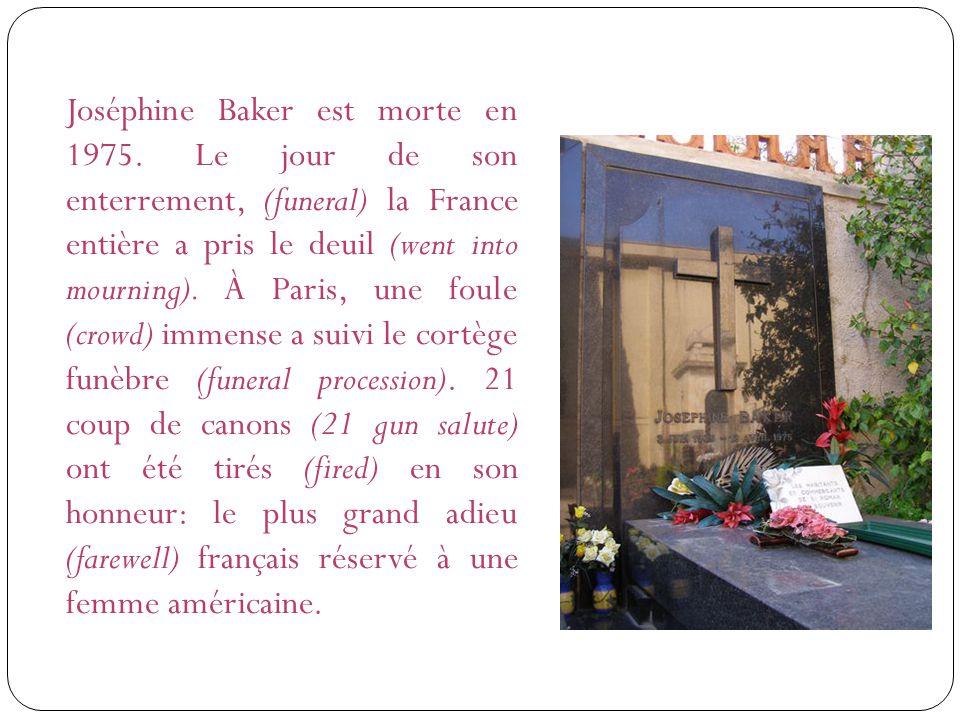 Joséphine Baker est morte en 1975