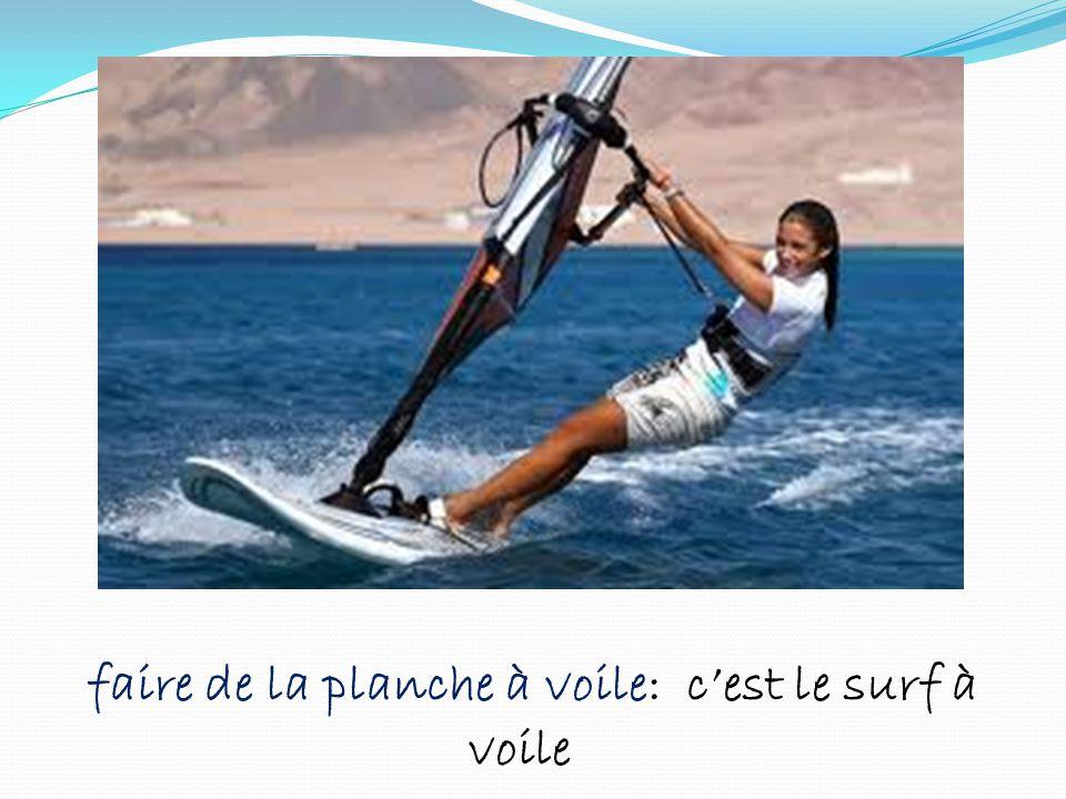 faire de la planche à voile: c'est le surf à voile