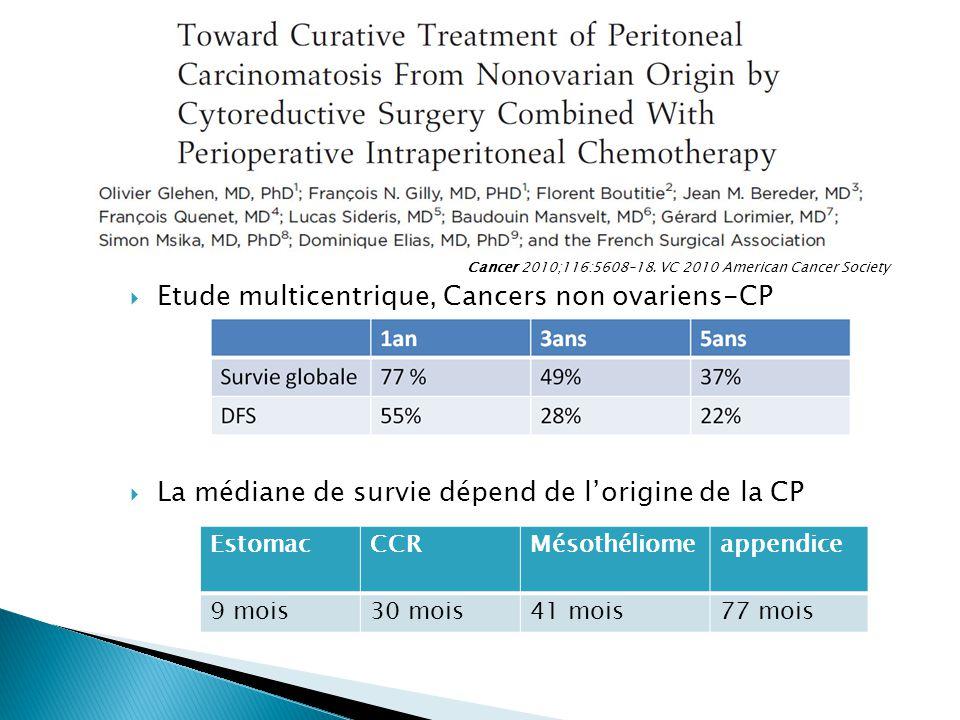 Etude multicentrique, Cancers non ovariens-CP
