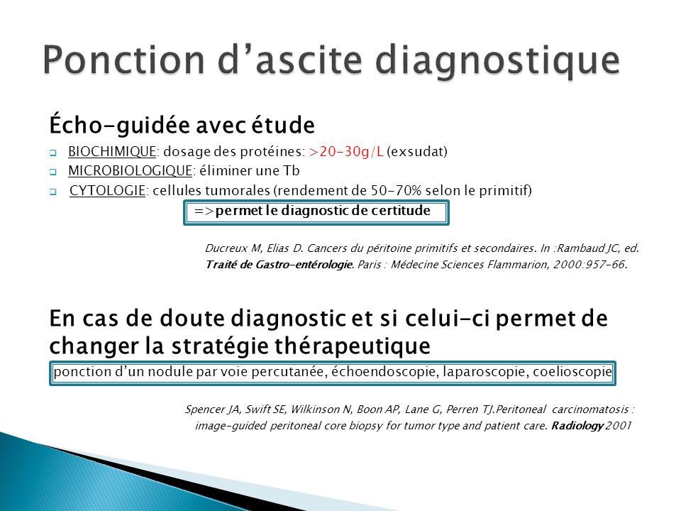 Ponction d'ascite diagnostique