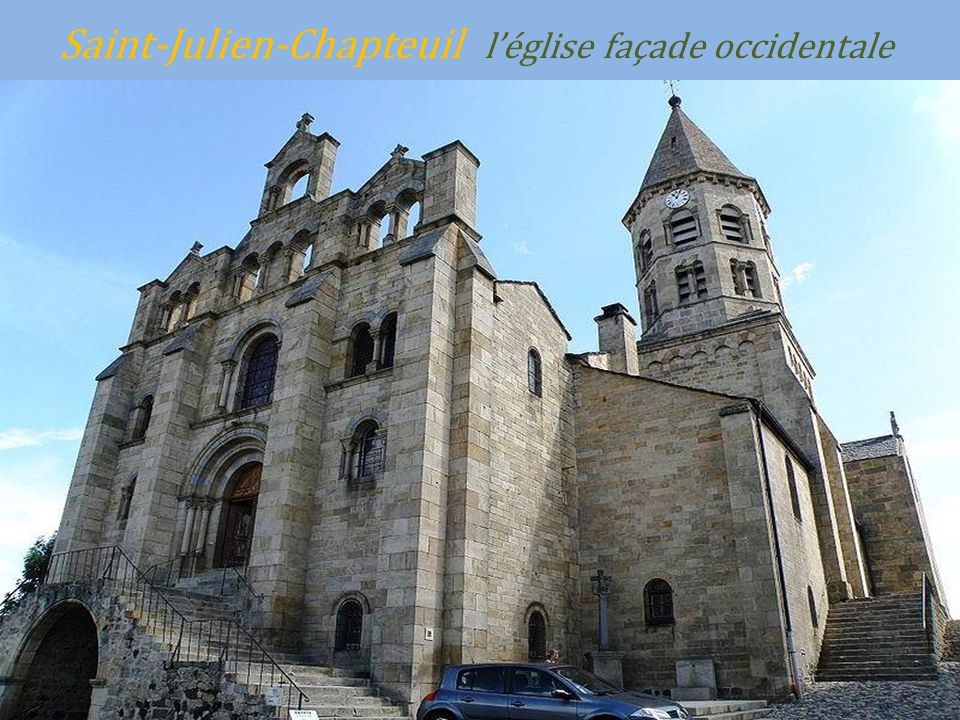 Saint-Julien-Chapteuil l'église façade occidentale