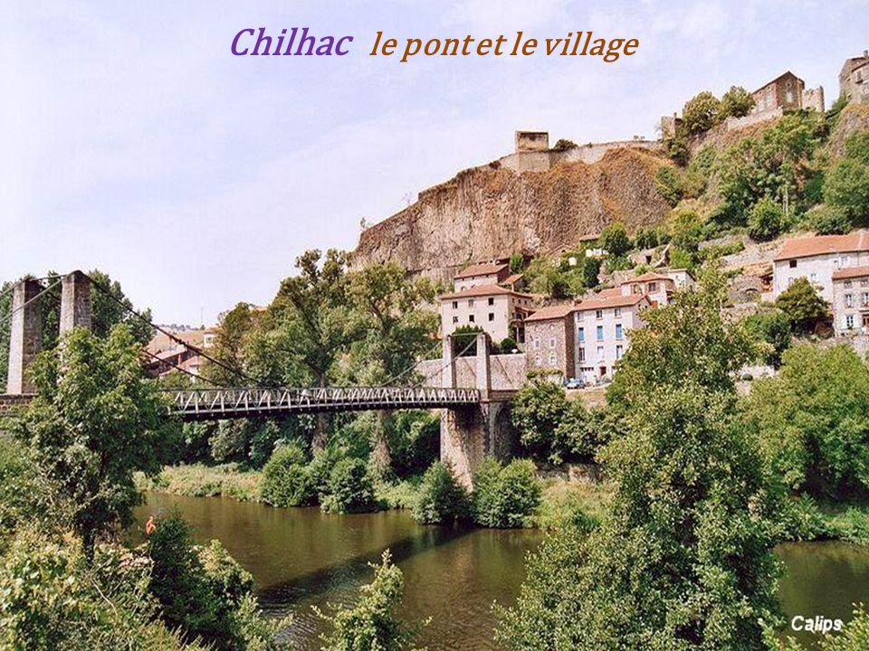 Chilhac le pont et le village
