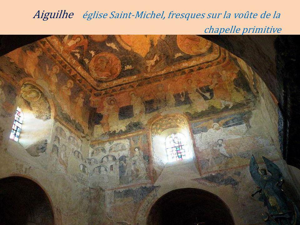Aiguilhe église Saint-Michel, fresques sur la voûte de la