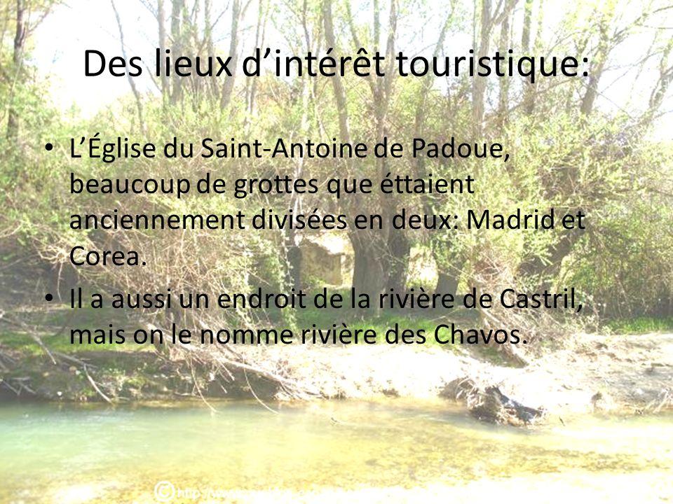 Des lieux d'intérêt touristique:
