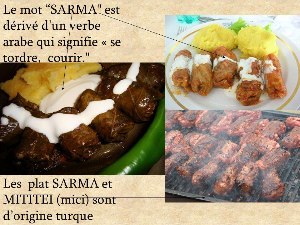 Le mot SARMA est dérivé d un verbe arabe qui signifie « se tordre, courir.