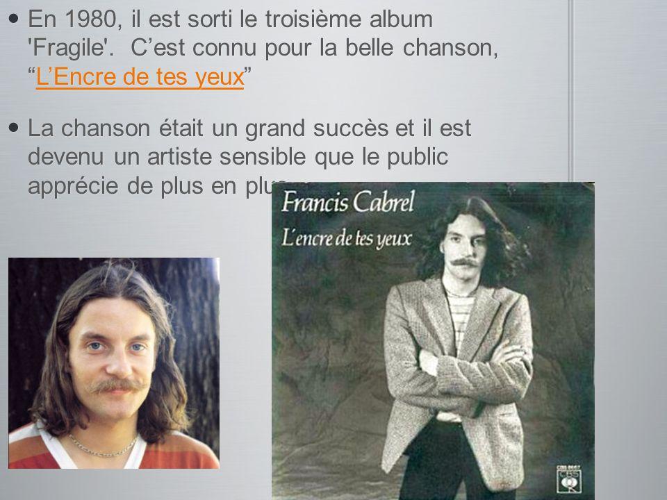 En 1980, il est sorti le troisième album Fragile
