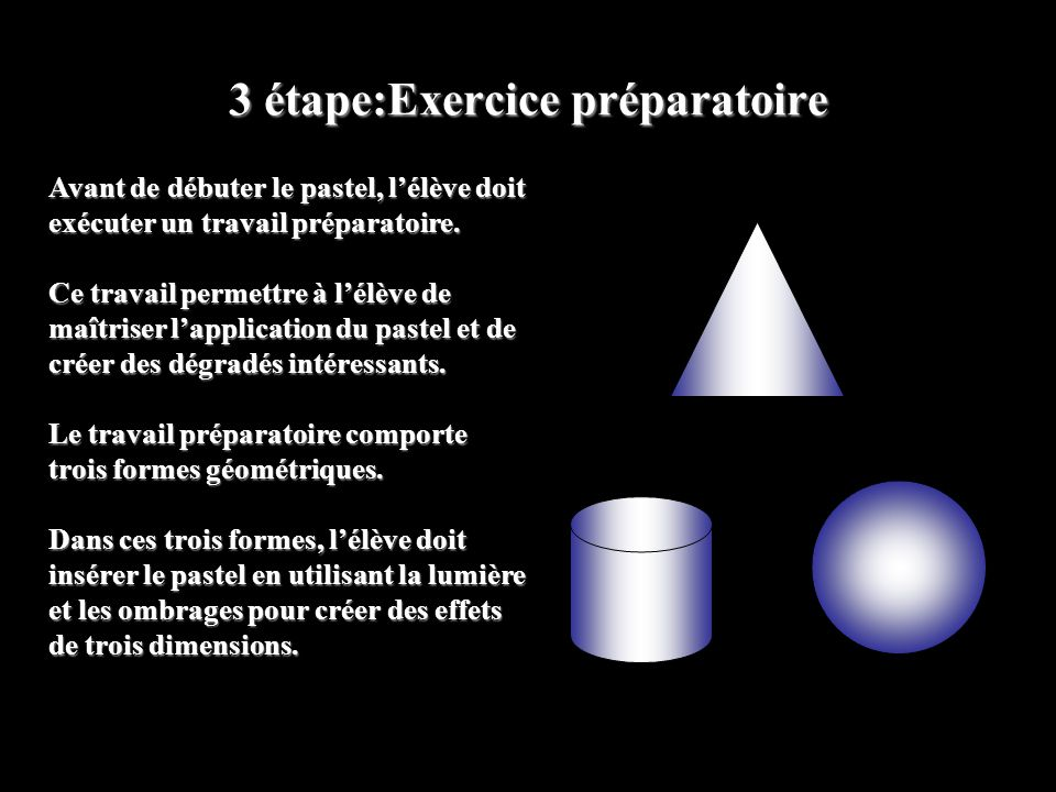3 étape:Exercice préparatoire