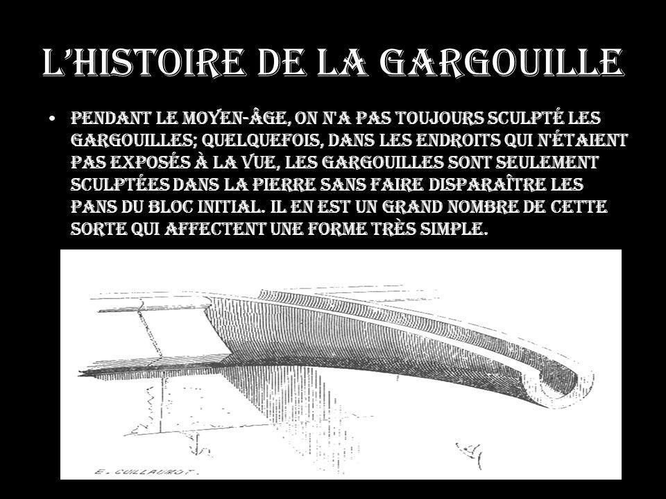 L'histoire de la gargouille