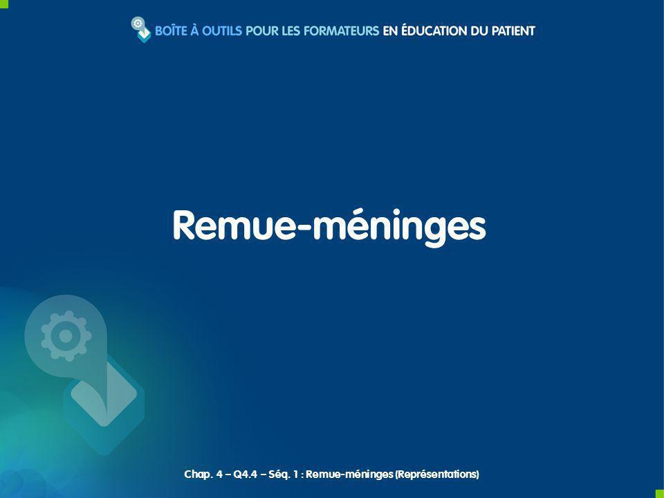 Chap. 4 – Q4.4 – Séq. 1 : Remue-méninges (Représentations)