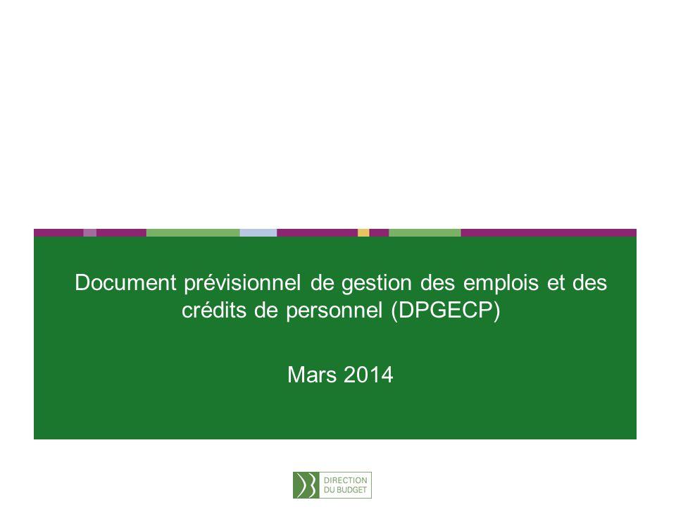 Document prévisionnel de gestion des emplois et des crédits de personnel (DPGECP)