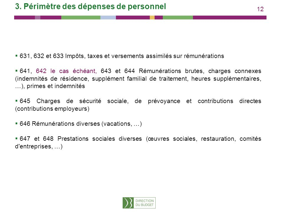 3. Périmètre des dépenses de personnel