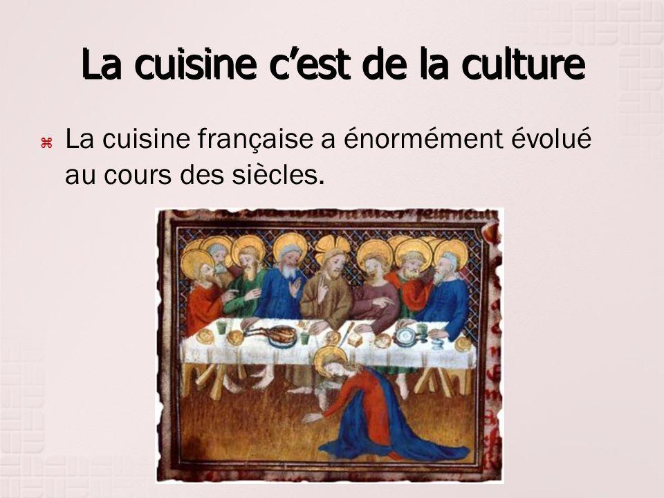 La cuisine c'est de la culture