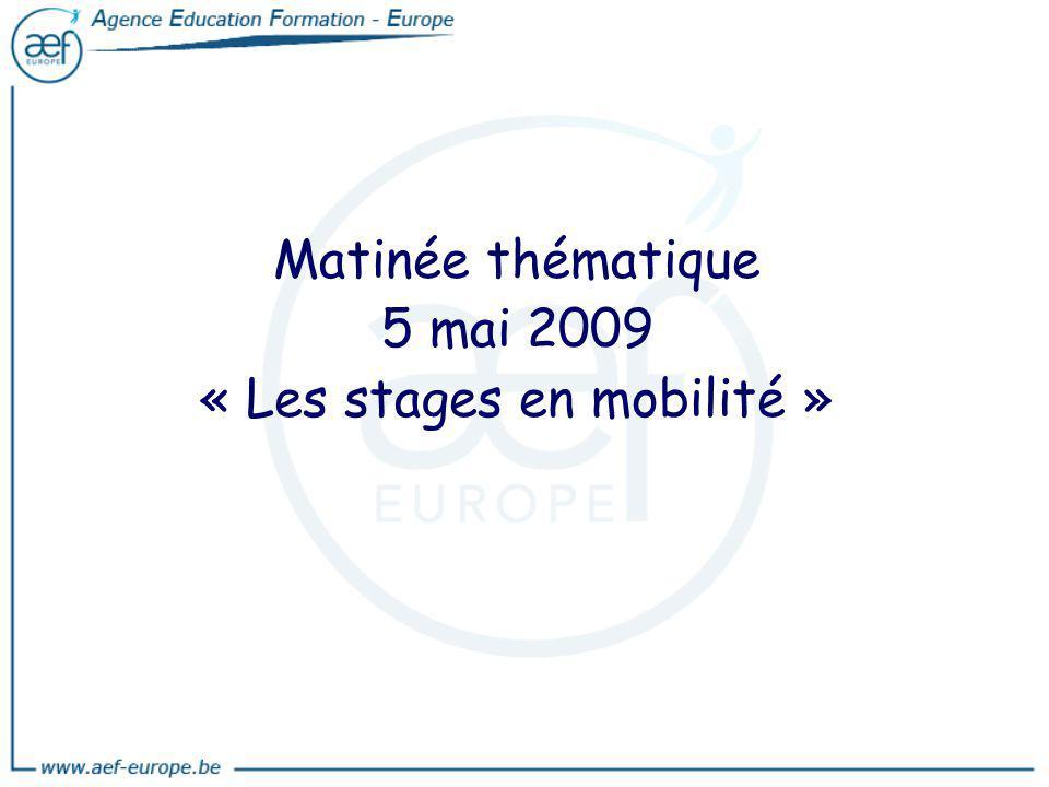 « Les stages en mobilité »