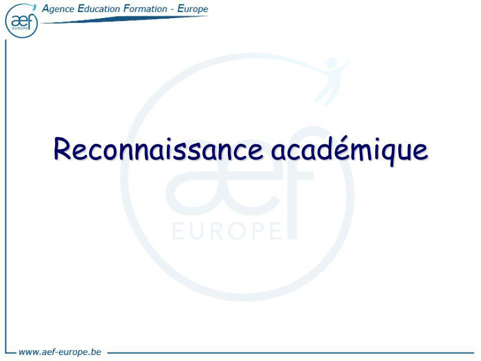 Reconnaissance académique