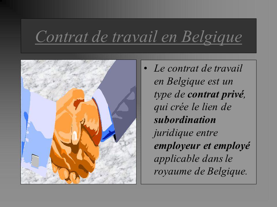 Contrat de travail en Belgique