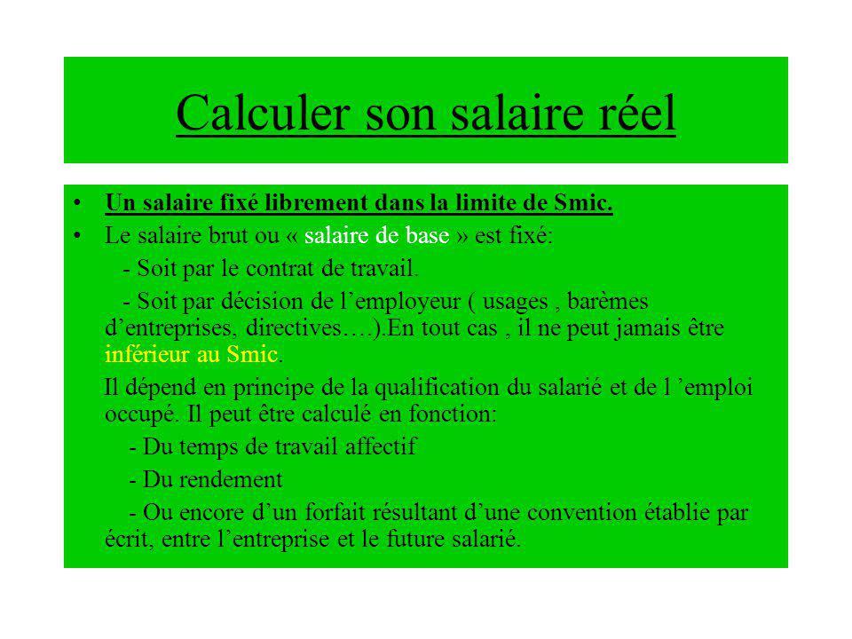 Calculer son salaire réel