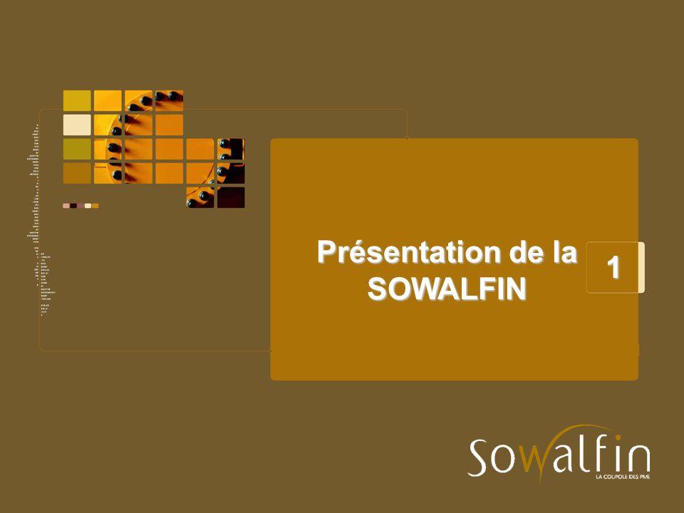 Présentation de la SOWALFIN