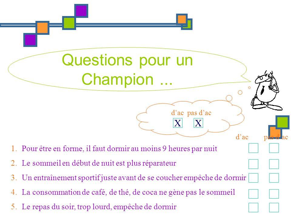 Questions pour un Champion ...