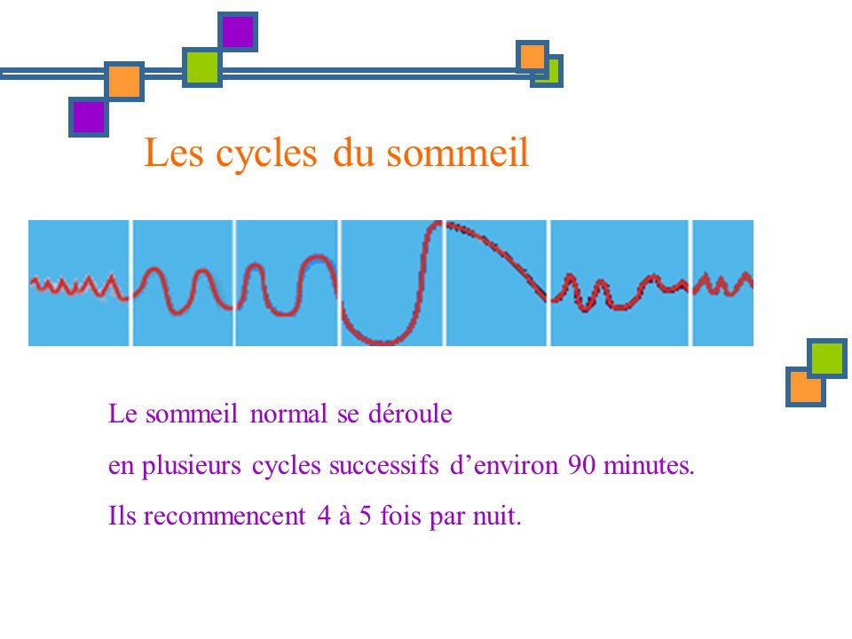 Les cycles du sommeil Le sommeil normal se déroule