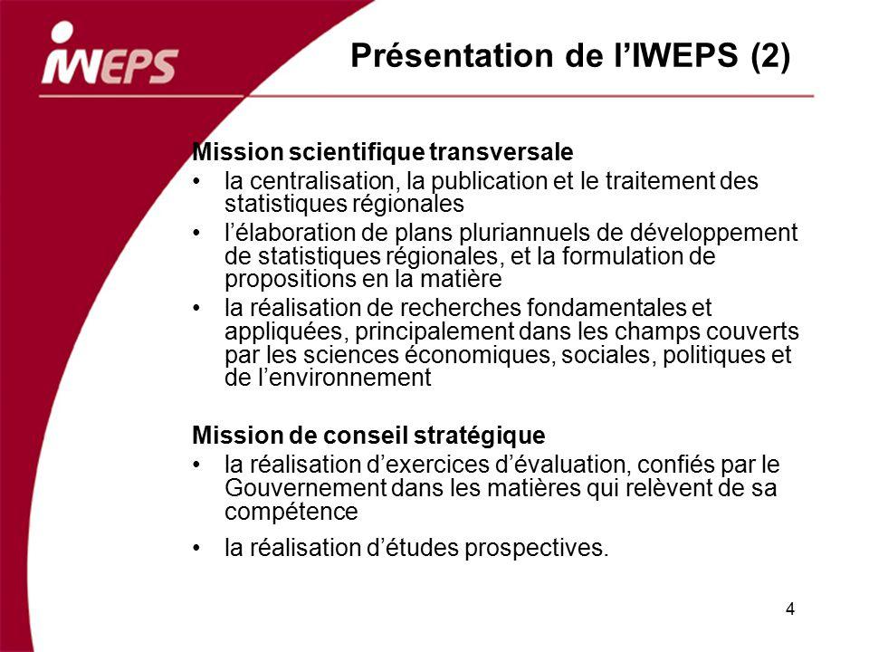 Présentation de l'IWEPS (2)