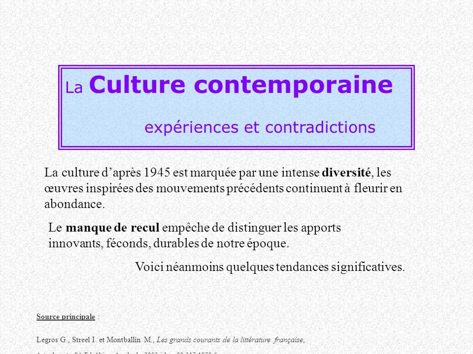 expériences et contradictions