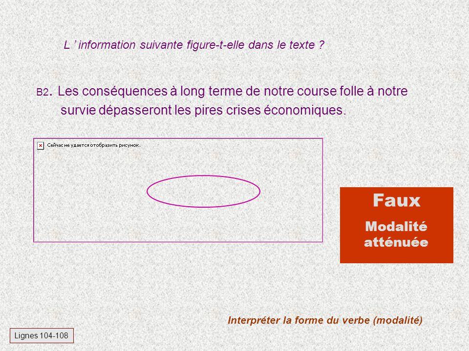 Interpréter la forme du verbe (modalité)