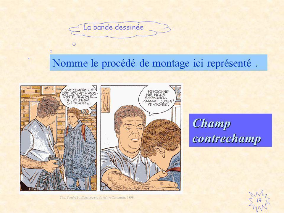 Champ contrechamp Nomme le procédé de montage ici représenté .