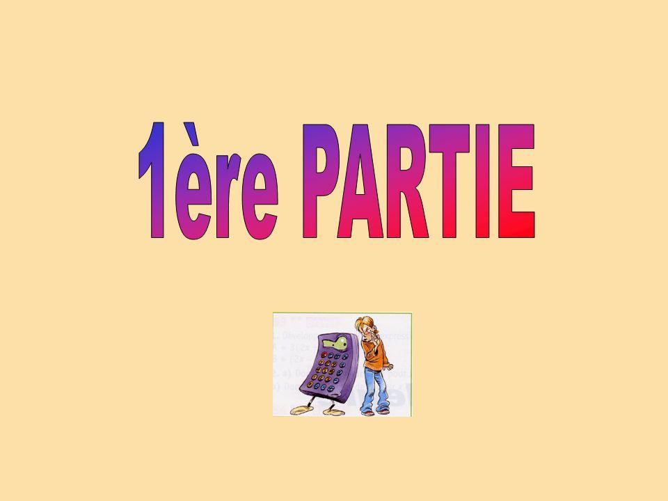 1ère PARTIE