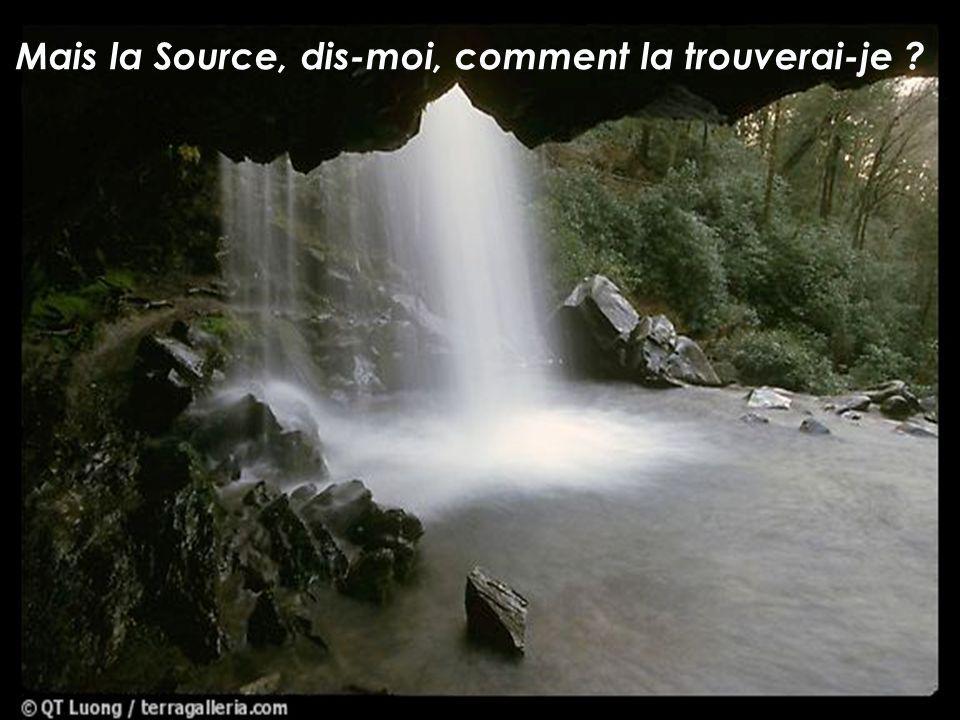 Mais la Source, dis-moi, comment la trouverai-je