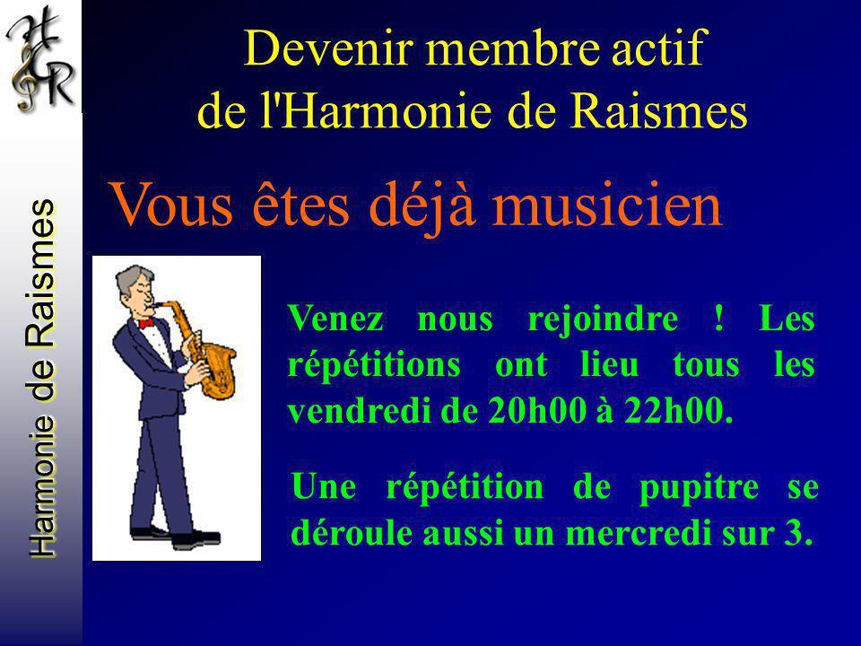 Devenir membre actif de l Harmonie de Raismes