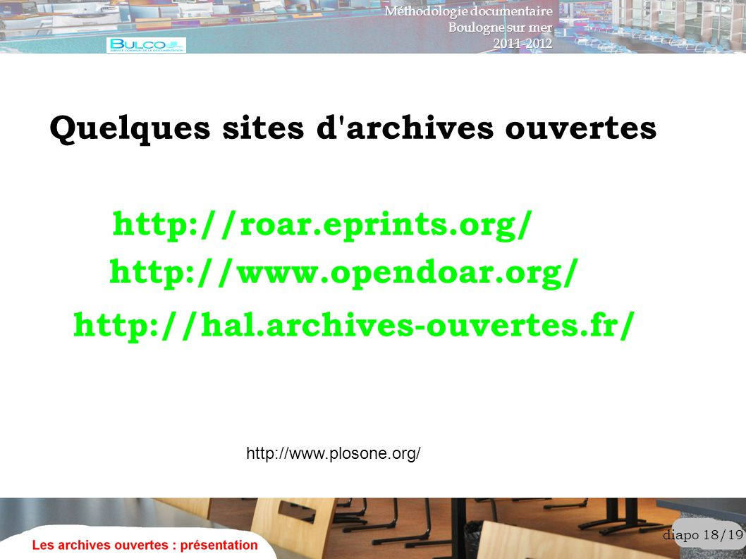 Quelques sites d archives ouvertes