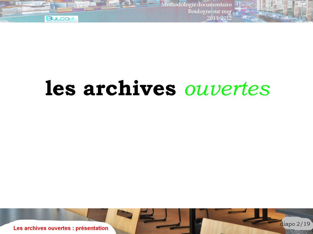 les archives ouvertes Méthodologie documentaire Boulogne sur mer
