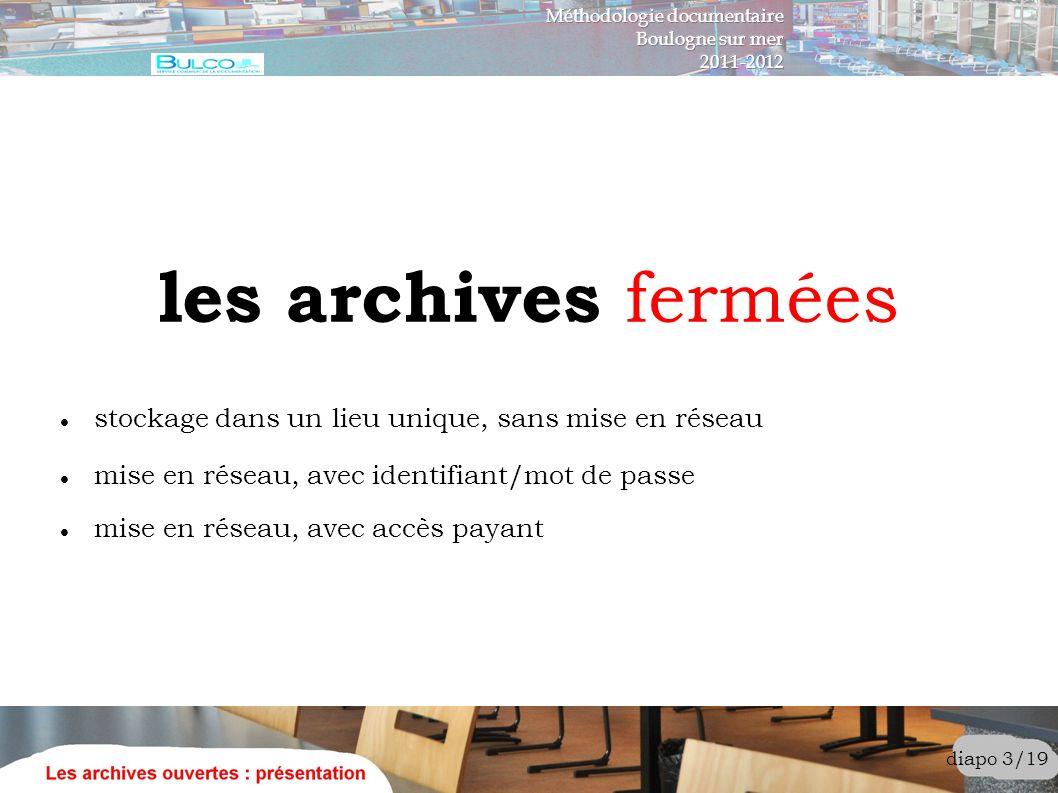 les archives fermées stockage dans un lieu unique, sans mise en réseau