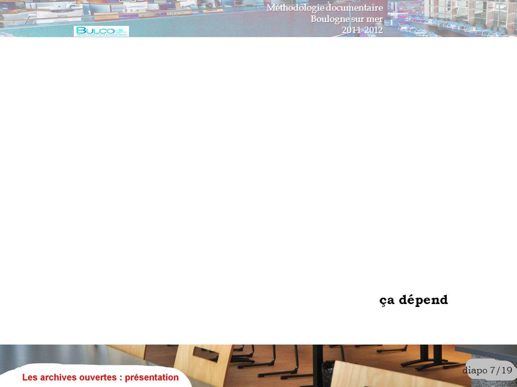 ça dépend Méthodologie documentaire Boulogne sur mer 2011-2012