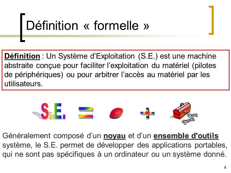 Définition « formelle »